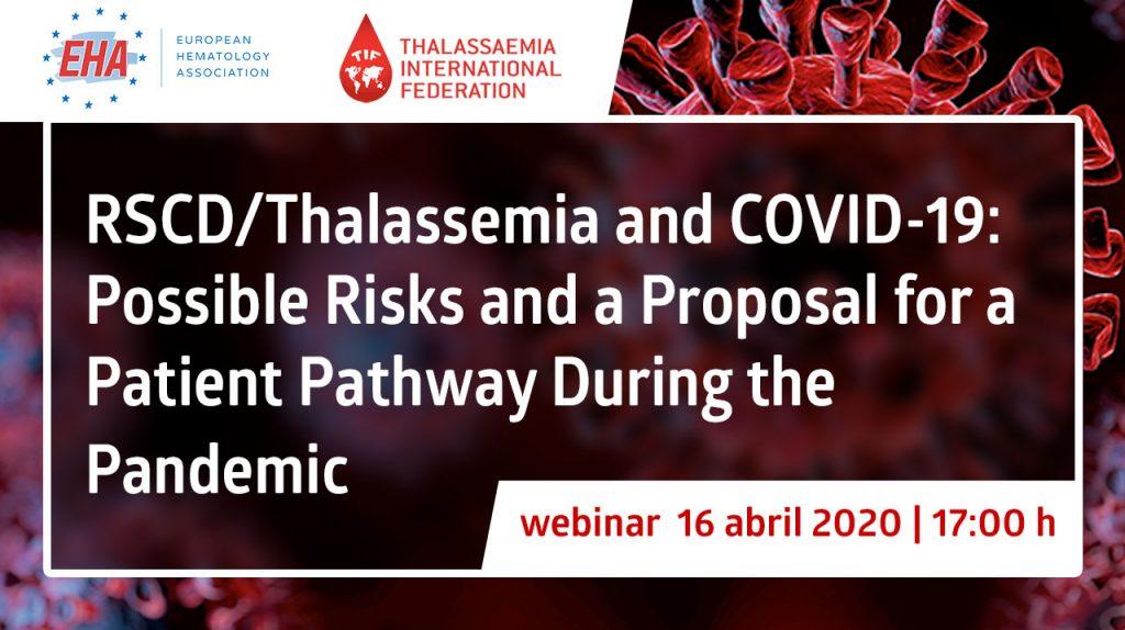 EHA webinar · SCD/Thalassemia and COVID-19