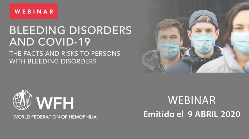 WFH Webinar · Bleeding disorders and COVID-19