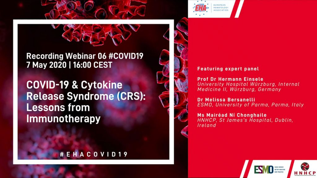 COVID-19 and Cytokine Release Syndrome (CRS): Lessons from Immunotherapy