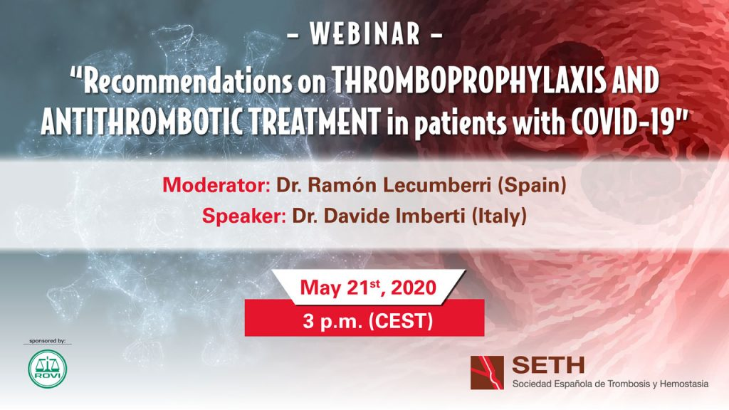 Recommendations on Thromboprophylaxis and Antithrombotic Treatment in pacients with COVID-19