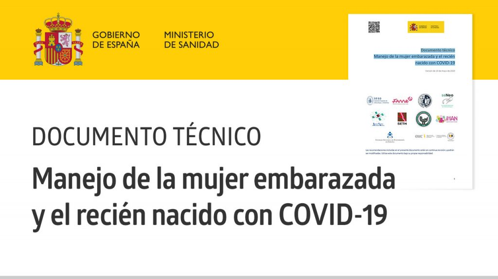 Documento técnico «Manejo de la mujer embarazada y el recién nacido con COVID-19» · Ministerio de Sanidad