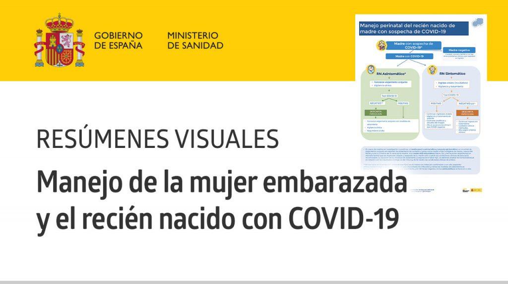 Resúmenes Visuales «Manejo de la mujer embarazada y el recién nacido con COVID-19» · Ministerio de Sanidad