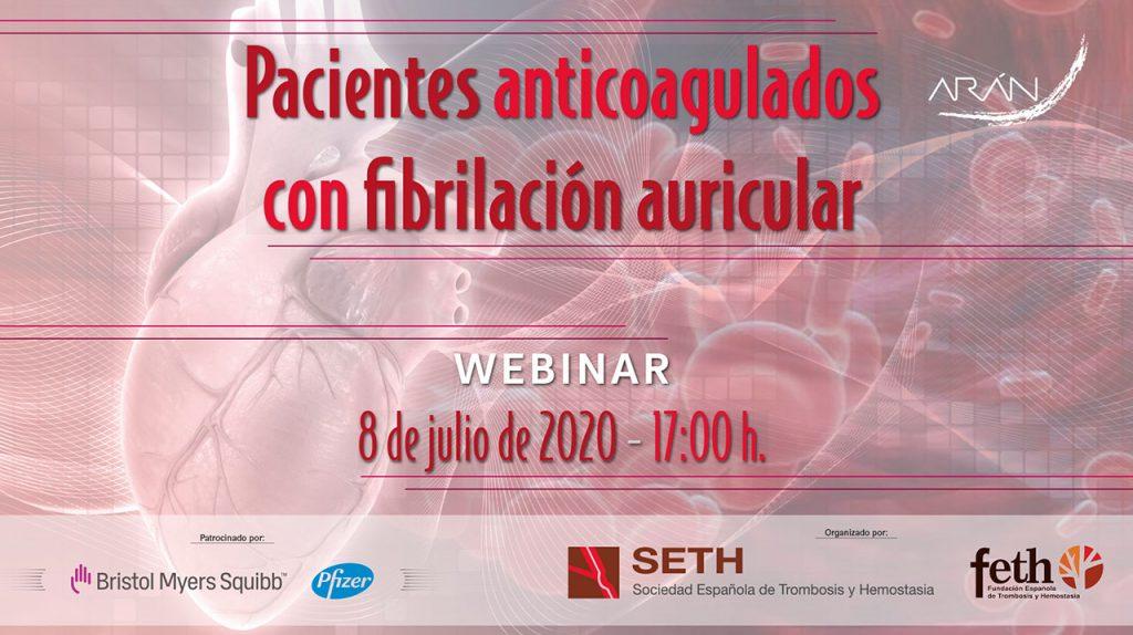 Webinar SETH · Pacientes anticoagulados con fibrilación auricular
