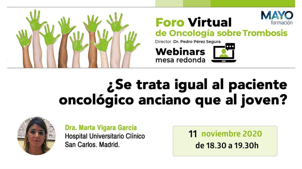 Foro virtual · ¿Se trata igual al paciente oncológico anciano que al joven?