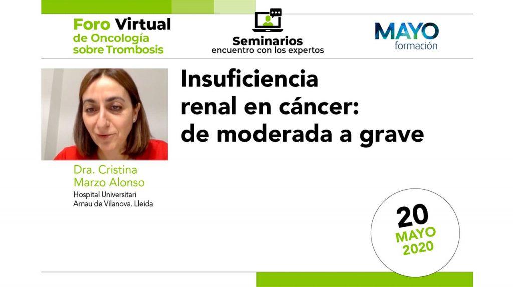 Insuficiencia renal en cáncer: de moderada a grave · IX Foro de Oncología sobre trombosis