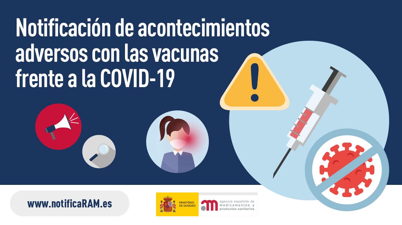Notificación de acontecimientos adversos con las vacunas frente a la COVID-19